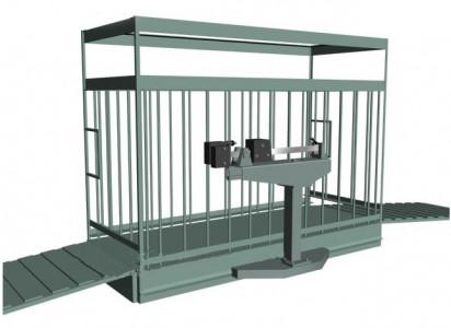 Весы механические для взвешивания животных