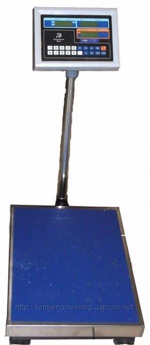 Весы товарные напольные на 150 кг ВПЕ-150-405 ДВ (Украина)